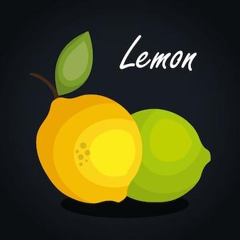 Disegno di limone icona di frutta