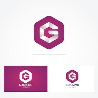 Disegno di log geometrico di lettera g