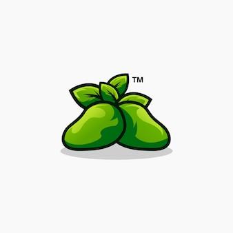 Disegno di logo di mango frutta esports