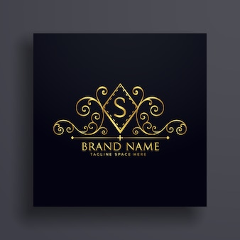 Disegno di lusso del marchio di disegno con la lettera s