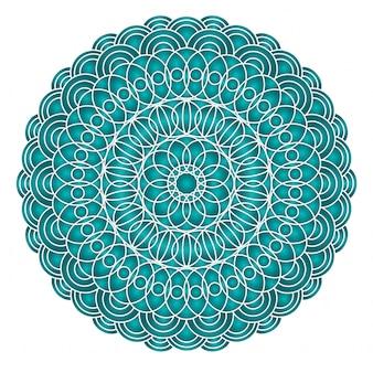 Disegno di mandala orientale asiatico, arabo, indiano. isolato