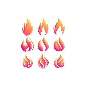 Disegno di marchio di colore sfumato fuoco