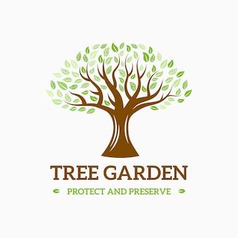 Disegno di marchio di vita dell'albero