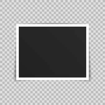 Disegno di mockup cornice foto vettoriale.
