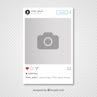 Disegno di modello di instagram