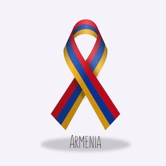 Disegno di nastro della bandierina di armenia