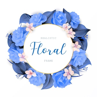 Disegno di nozze ghirlanda floreale
