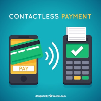 Disegno di pagamento senza contatto