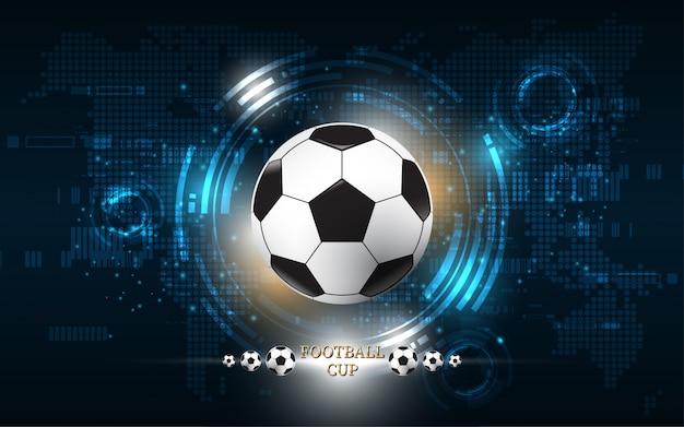 Disegno di pallone da calcio coppa del calcio