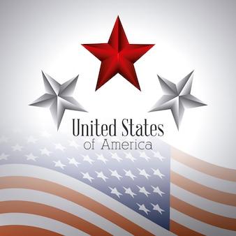 Disegno di patriottismo degli stati uniti.