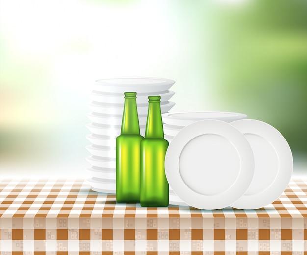 Disegno di picnic estivo