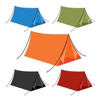 Disegno di raccolta vettoriale tenda