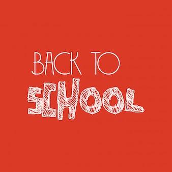 Disegno di ritorno a scuola con vettore sfondo arancione