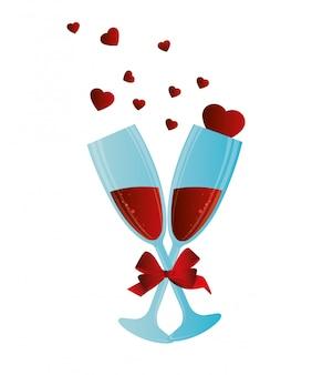 Disegno di san valentino, illustrazione vettoriale.