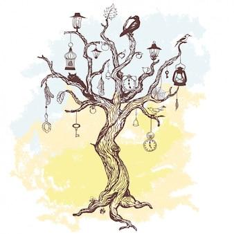 Disegno di sfondo albero