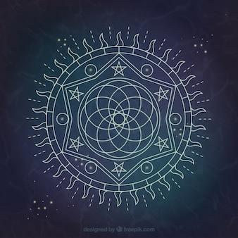 Disegno di sfondo alchemy