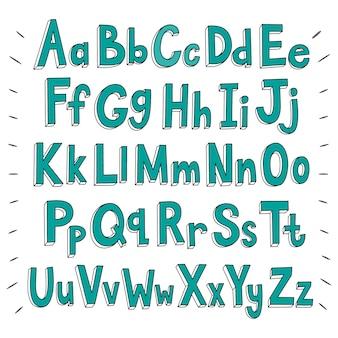 Disegno di sfondo alfabeto