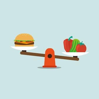 Disegno di sfondo alimentare