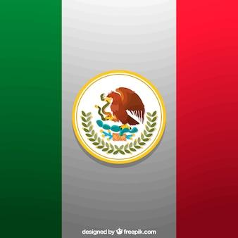 Disegno di sfondo bandiera messicana