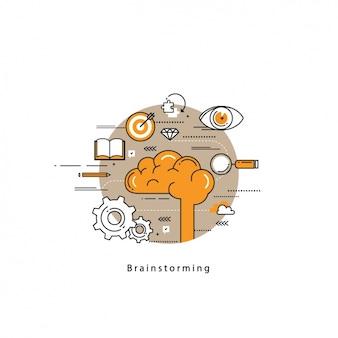 Disegno di sfondo Brainstorming