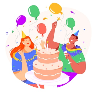 Disegno di sfondo celebrazione di compleanno