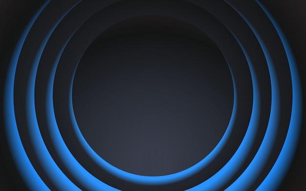 Disegno di sfondo cerchio nero e blu