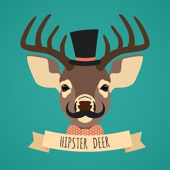 Disegno di sfondo cervi hipster