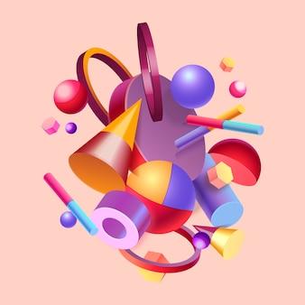 Disegno di sfondo colorato 3d