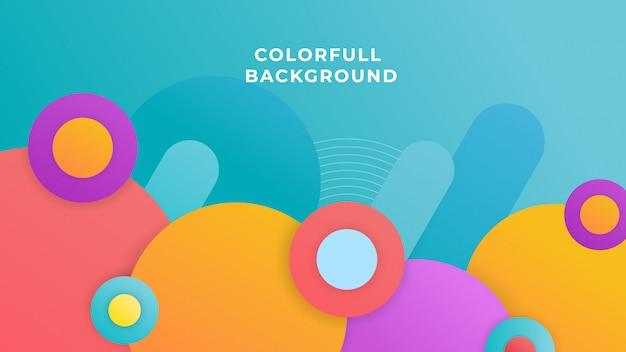 Disegno di sfondo colorato cerchio
