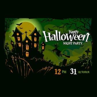 Disegno di sfondo colorato di halloween
