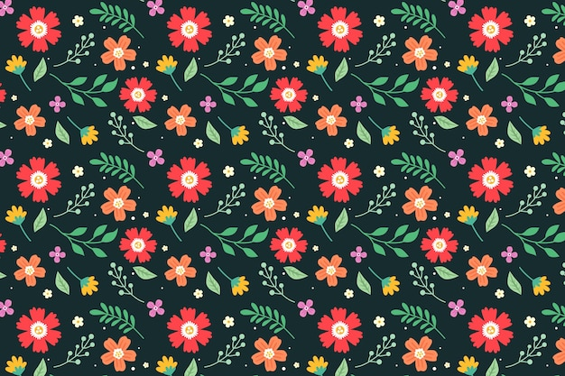 Disegno di sfondo colorato stampa floreale ditsy