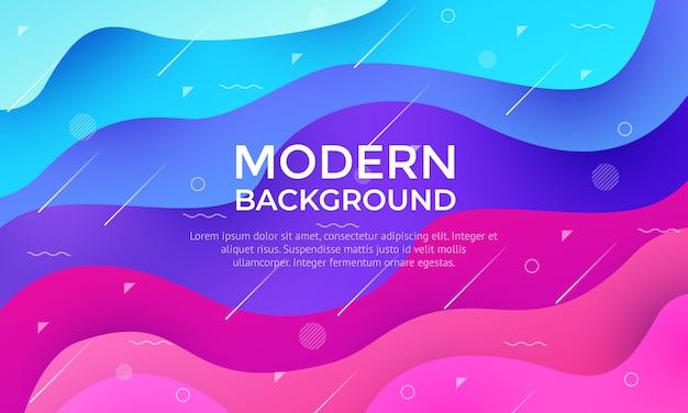 Disegno di sfondo con texture dinamica in stile fluido 3d con colore di forma viola.