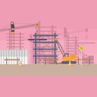 Disegno di sfondo costruzione