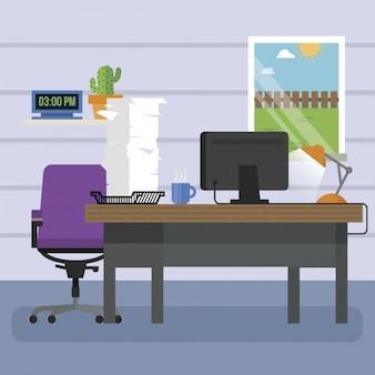 Disegno di sfondo del posto di lavoro