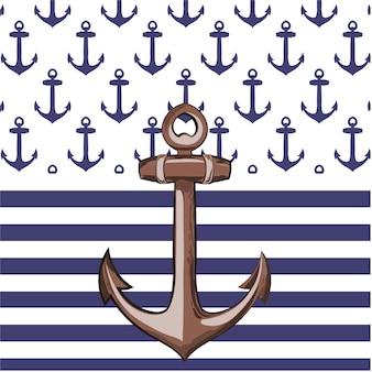 Disegno di sfondo dell'ancoraggio