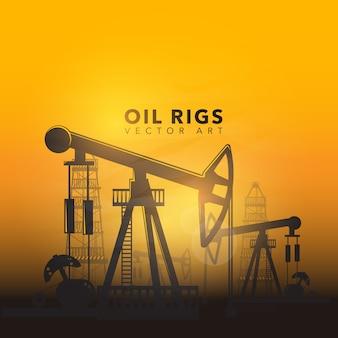 Disegno di sfondo dell'olio di olio