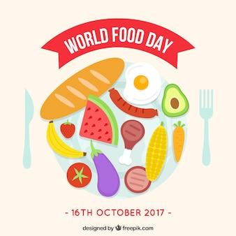 Disegno di sfondo della giornata alimentare mondiale