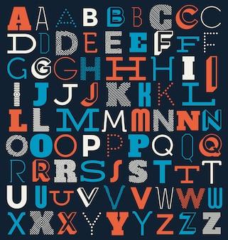 Disegno di sfondo di alfabeto