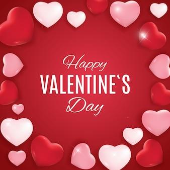 Disegno di sfondo di amore e sentimenti di san valentino. illustrazione vettoriale