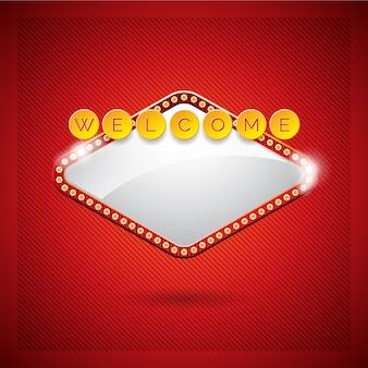 Disegno di sfondo di benvenuto