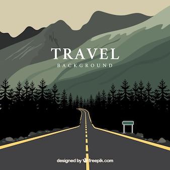 Disegno di sfondo di viaggio