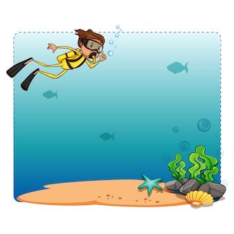 Disegno di sfondo diving