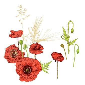Disegno di sfondo floreale