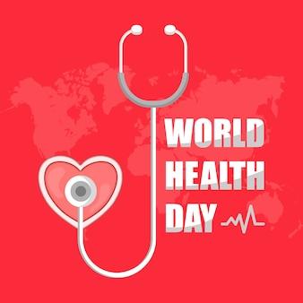 Disegno di sfondo giornata internazionale della salute