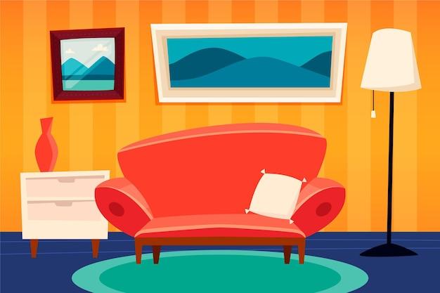 Disegno di sfondo interno casa