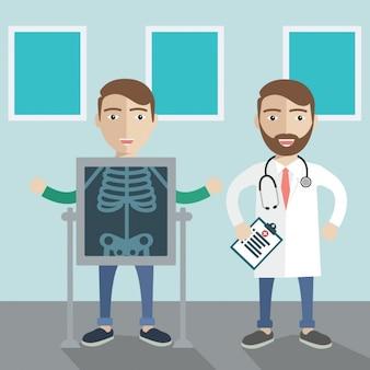Disegno di sfondo medica
