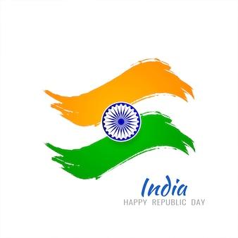 Disegno di sfondo tricolore tema bandiera indiana