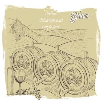 Disegno di sfondo vino