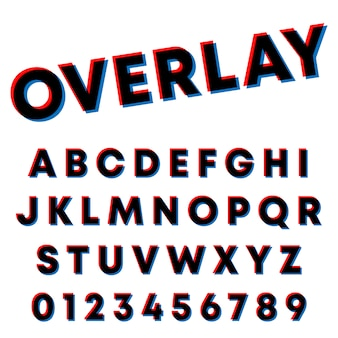 Disegno di sovrapposizione di caratteri tipografici
