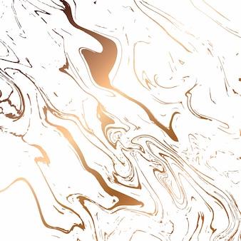 Disegno di struttura di marmo liquido, superficie di marmorizzazione colorata, bianco e oro, vibrante disegno astratto della vernice